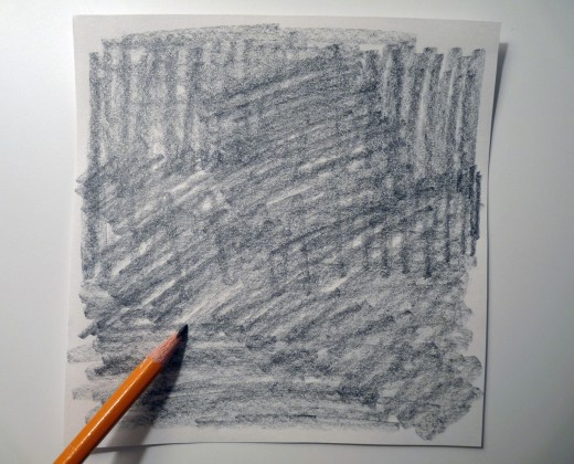 Darken the back of your sketch with the sides of your pencil