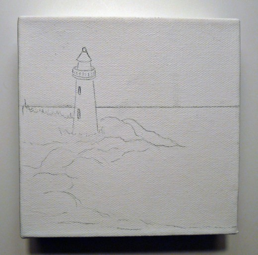 Sketch is on canvas and you're ready to start painting!