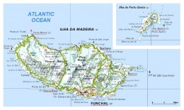 Detailed map of Madeira Island