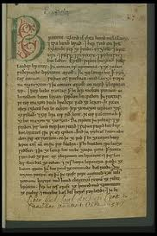 The 'Burh' or Peterborough Chronicle within the framework of the 'Saxon Chronicles' took over from the Wessex centres in the 11th Century, and introduced a Danelaw vernacular element to the language of the Chronicle until the mid-12th Century
