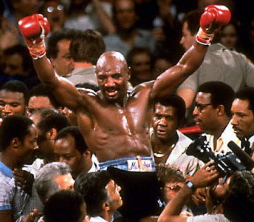 Marvelous Marvin Hagler is one of the best middleweight champions in history having defended his crown 12 times.