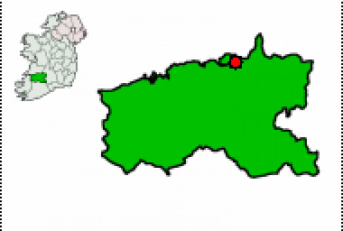 Map location of Limerick City, Co. Limerick, Ireland