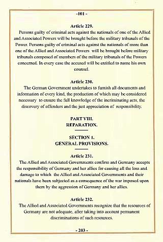 Treaty of Versailles document