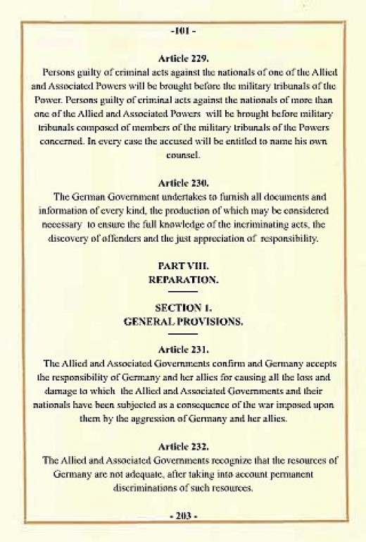 Treaty of Versailles document