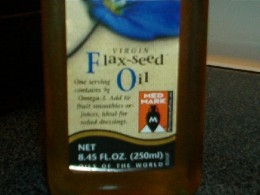 Flaxseed oil has antioxidants.