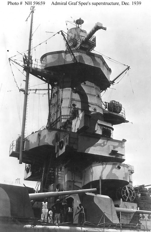 The Graf Spee in Montevideo after the Battle