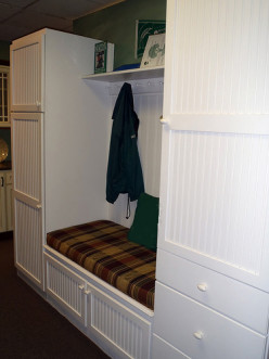 How about a mudroom the entire family can share?