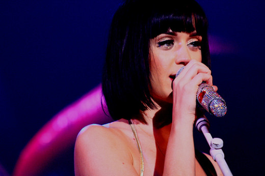 Katy Perry on her Hello Katy tour in 2009