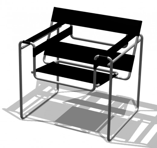 The Wassily Chair was invented by Marcel Beuer in the late 1920s.  It's also called the Bauhaus Chair.