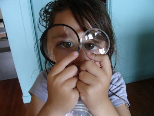If a girl wants a magnifying glass, why not encourage her scientific inquires?
