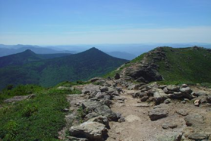 The White Mountains of New Hampshire are known for their high spectacular ridges like this one on the Franconia Range