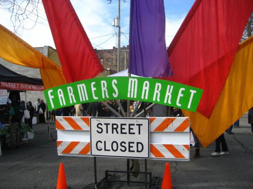 Farmers Market sign in Ballard.