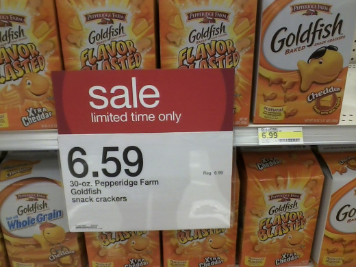 A legitimate advertised sale of an item 40 cents less than normal.