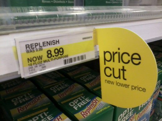 Sign advertising a price cut