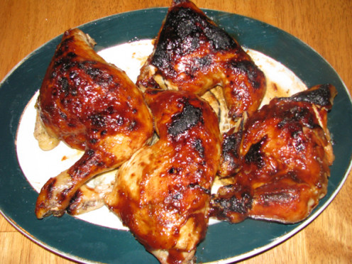 Chicken quarters grilled to perfection!