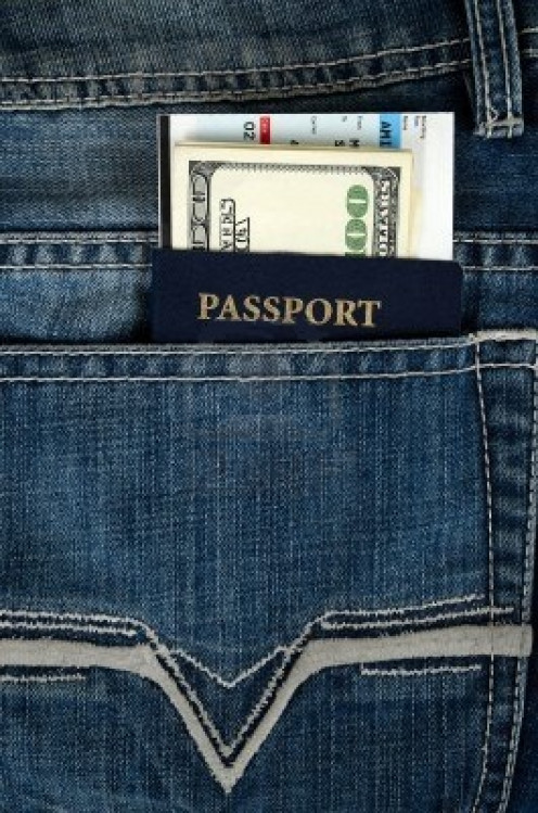 Passport With Money In The Pocket
