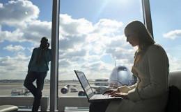 Businesswoman - Laptop At An Airport