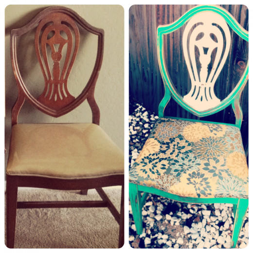 My Goodwill chair project, before and after