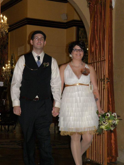 1920s wedding reception