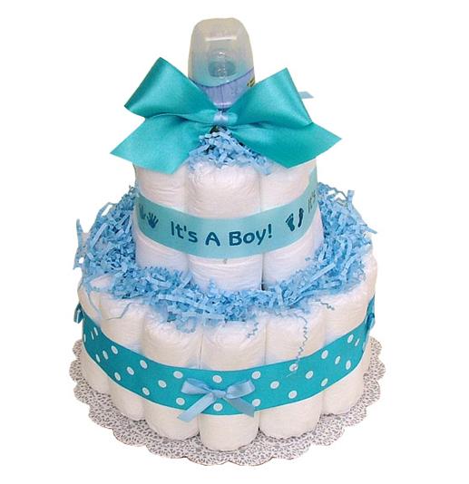 Diaper Cake for a Boy