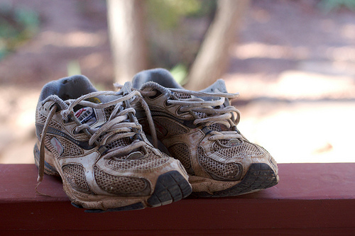 Old shoes can really contribute to shin splints