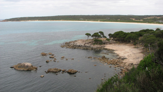 Looking towards Bunker Bay, Western Australia.