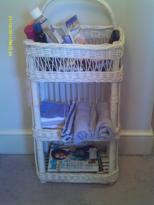 Wicker storage: just the right size and price: FREE