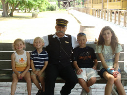 The train conductor even kept us company during our lunch!