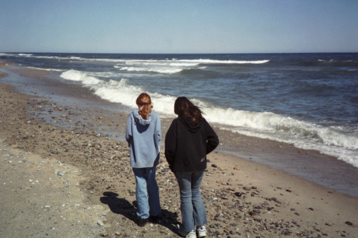My girls on a trip to Cape Cod.