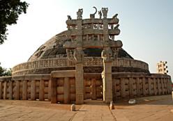 sanchi stupa an example of Mauryan architecture