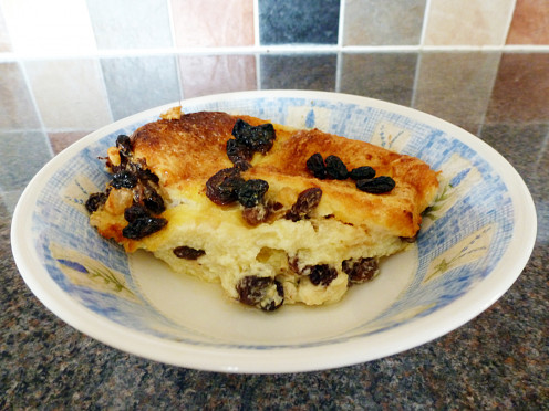 Bread & Butter pudding, delicious straight from the oven