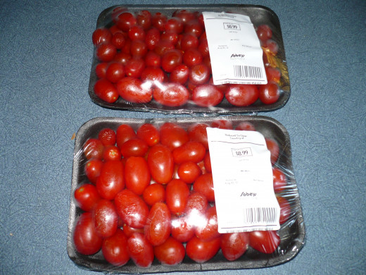 99 cents for each grape tomatoespackage.
