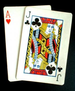 A natural Blackjack (21 points).