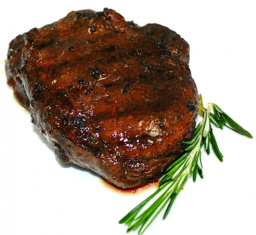 Beef Steak marinated with homemade red white salt