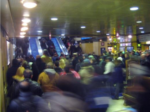 Heavy Amtrak ridership in Chicago.