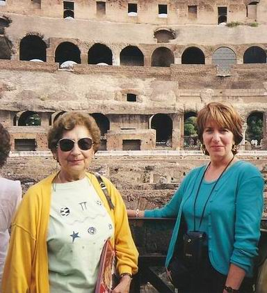 Aunt Mary and I in the Colosseum
