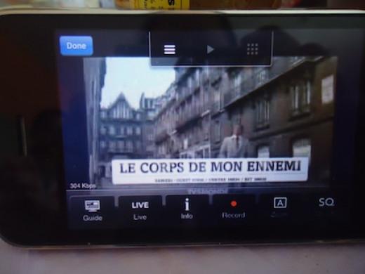 TV5Monde through my iPhone.