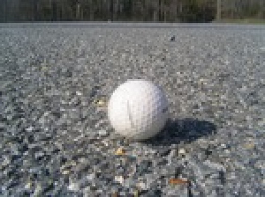 Looking for golf balls on your walk is like going on an Easter egg hunt.