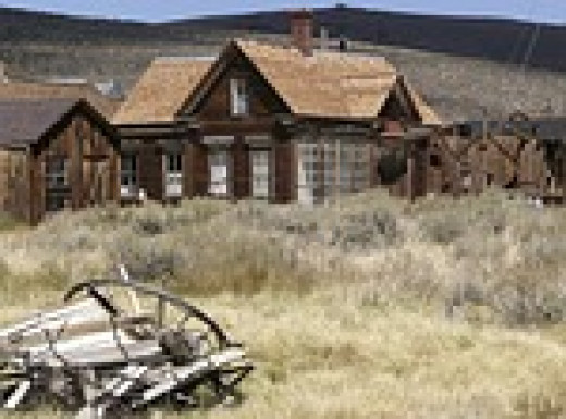 Bodie, CA was a gold-mining town.