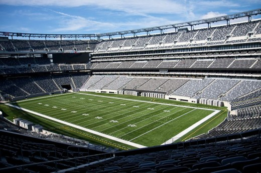 MetLife Stadium, Home of the New York Giants and New York Jets, as well as Super Bowl XLVII in February 2013