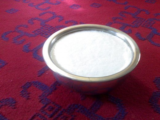 Idli batter after fermentation.