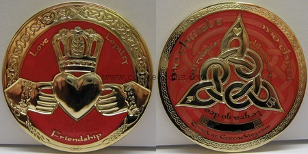 Red Calladgh geocoin
