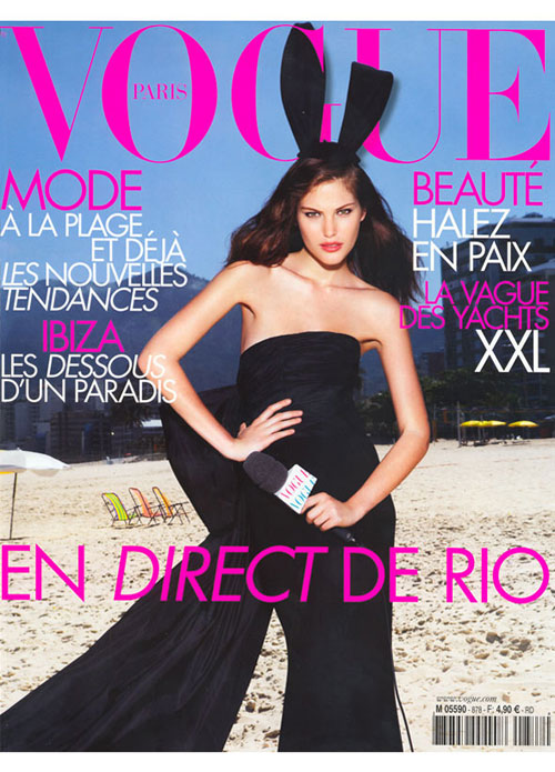 Catherine McNeil on the cover of French Vogue