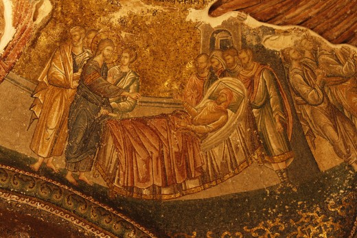 Christ healing a paralitic in Caphernaum