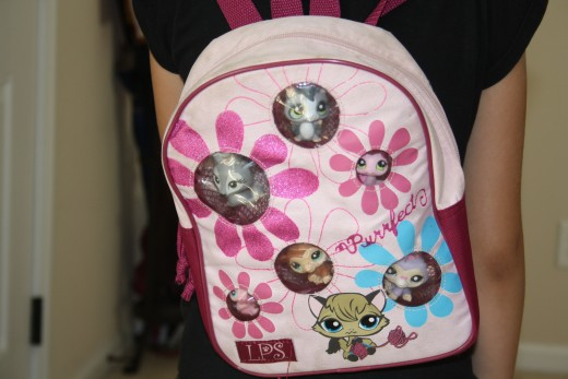 My daughters Littlest Pet Shop Backpack