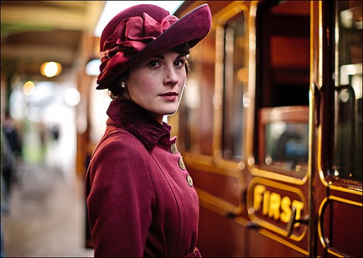 Lady Mary Crawley about to Board a Train