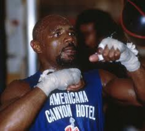 Marvelous Marvin Hagler was one of the top middleweight champs in prizefighting history.