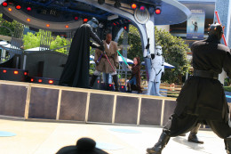 "The Jedi training show is not to be missed - the author's five year old son was able to ""force-push"" the two storm troopers out of the way."