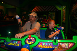 The Buzz Lightyear ride is a combination arcade game and dark ride.