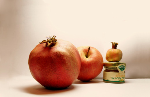 Apples and honey and pomegranates are some of the traditional foods of Rosh Hashanah.